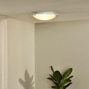 Lucide Basic Flush Ceiling Light - White