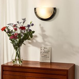 Lucide Basic Flush Wall Light - Gun Metal
