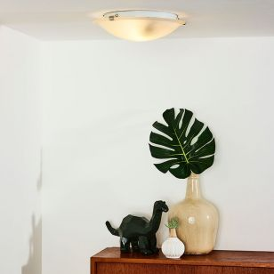 Lucide Albastro Flush Ceiling Light - Albast