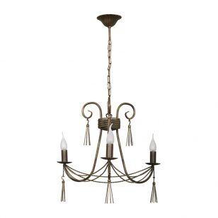 Edit Twine 3 Light Chandelier - Bronze