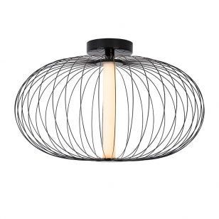 Lucide Carbony LED Flush Ceiling Light - Black