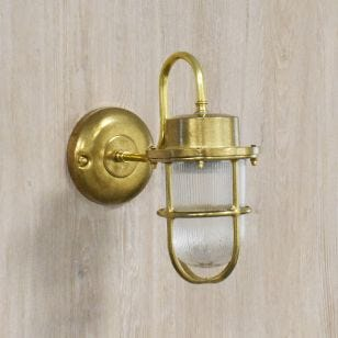 Edit Coastal Hook Outdoor Wall Light - Brass