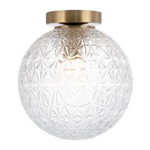Edit Claridge Glass Flush Ceiling Light - Clear