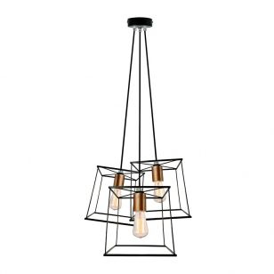 Edit Knot 3 Light Cluster Ceiling Pendant - Black