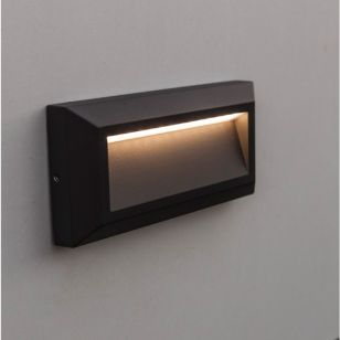 Lutec Helena Down LED Outdoor Surface Brick Light - Dark Grey