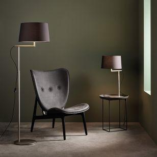 Astro Telegraph Table Lamp - Base Only - Matt Nickel