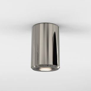 Astro Jura Outdoor Flush Ceiling Light - Polished Nickel
