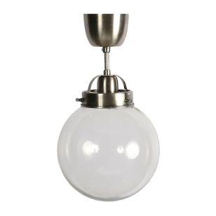 Edit Normandy Glass Semi-Flush Ceiling Light - Antique Silver