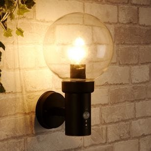 Edit Optic Outdoor Wall Light with PIR Sensor - Black
