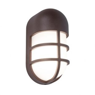 Bullo LED Outdoor Flush Wall Light - Brown