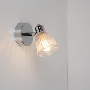Edit Rain Bathroom Single Spotlight - Chrome