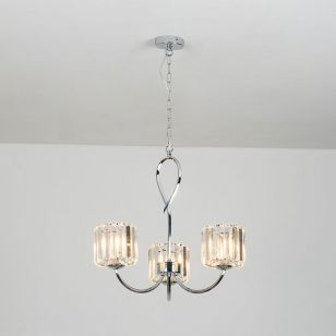 Edit Quartz Crystal 3 Arm Ceiling Light - Chrome