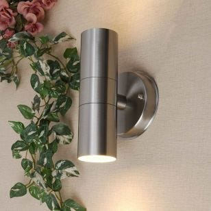 Edit Dune Outdoor Up & Down Wall Light - Stainless Steel