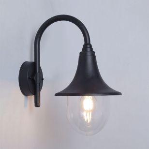 Edit Crook Outdoor Lantern Wall Light - Black