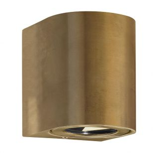 Nordlux Canto Warm White LED Outdoor Up & Down Wall Light - Brass