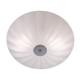 Sirocco 44 Glass Flush Ceiling Light - White