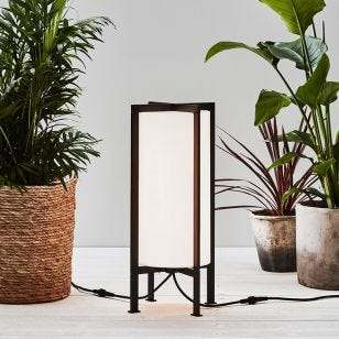 Garden 24V Frame LED Outdoor Floor Lamp - Black & White