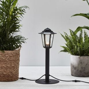 Garden 24V Coach Lantern LED Outdoor Post Light - Black