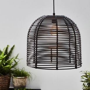 Garden 24V LED Pendant Light - Black