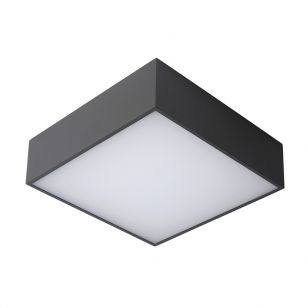 Lucide Roxane LED Square Flush Ceiling Light - Anthracite
