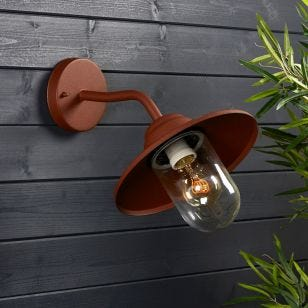Edit Perth Outdoor Wall Light - Rust Brown