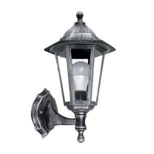Edit Mayfair Coach Lantern Outdoor Wall Light - Distressed Silver