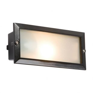 Aspect Outdoor Recessed Brick Light - Black