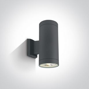Cylinder Large Outdoor Up & Down Wall Light - Anthracite