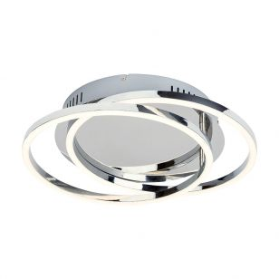 Edit Samia LED Flush Ceiling Light - Chrome