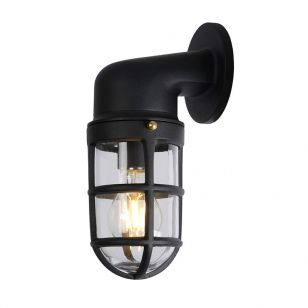 Lucide Dudley Outdoor Wall Light - Black