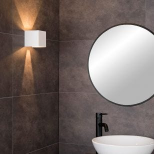 Lucide Axi Bathroom LED Up & Down Wall Light  - White