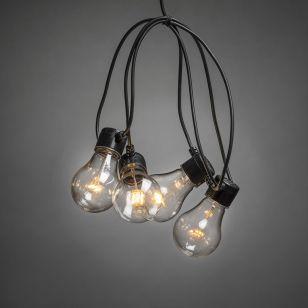 Konstsmide 19.5M Amber LED Clear GLS Festoon Lights - 20 Lights