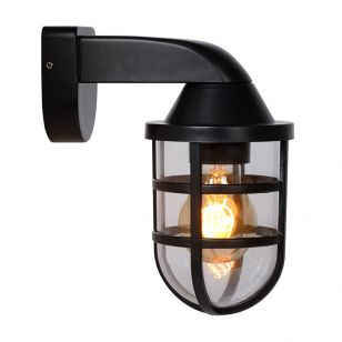 Lucide Lewis Outdoor Wall Light - Black