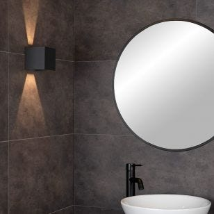Lucide Axi Bathroom LED Up & Down Wall Light  - Black