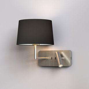 Astro Side by Side Grande LED Reading Light with USB Charging Port - Matt Nickel