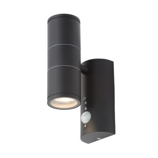 Edit Coastal Islay Outdoor Up & Down Wall Light with PIR Sensor - Black