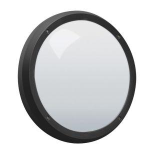 Robus Vega 14W Cool White LED Flush Light - Black