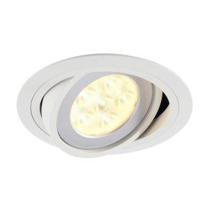 SLV Tria Low Voltage Adjustable Recessed Downlight - White