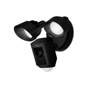 Ring LED Floodlight with PIR Sensor and HD WiFi Camera - Black
