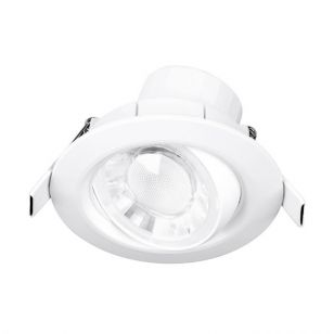 Aurora Enlite Spryte 8W Warm White Dimmable LED Adjustable Downlight - Matt White