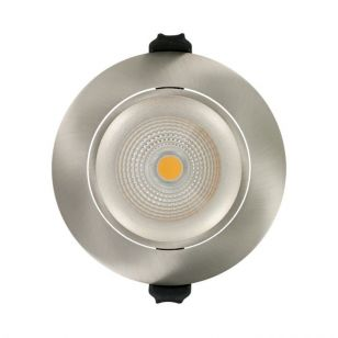 Integral 6W Warm White Dimmable LED Fire Rated Adjustable Downlight - Satin Nickel