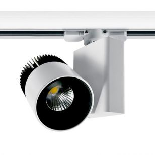 20W Cool White LED 3 Circuit Track Light - White