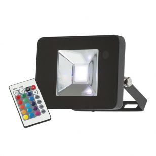 Knightsbridge 10W RGB LED Remote Controlled Floodlight