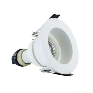Integral EvoFire Fire Rated Recessed Low Profile Fixed Downlight - Matt White