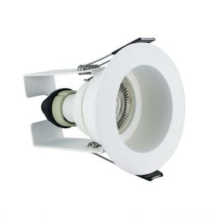 Integral EvoFire Fire Rated Recessed Low Profile Fixed Downlight with Insulation Guard - Matt White