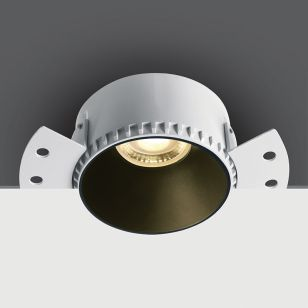 Round Trimless Fixed Plaster-In Downlight