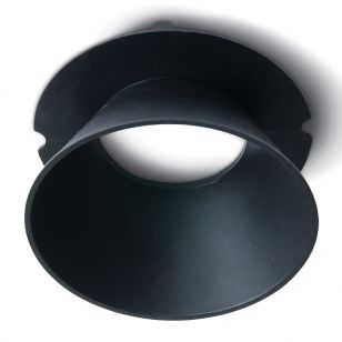 Round Reflector for Trimless Plaster In Downlight - Black
