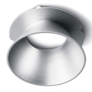 Round Reflector for Trimless Plaster In Downlight - Grey