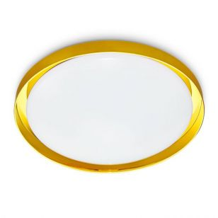 Corsica 14W Warm White Dimmable LED Flush Light - Gold