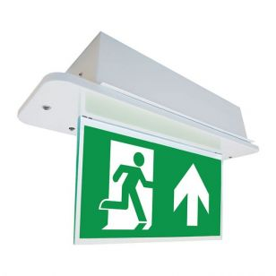 Eterna 3.5W LED Self Test Double Sided Recessed Emergency Exit Sign
